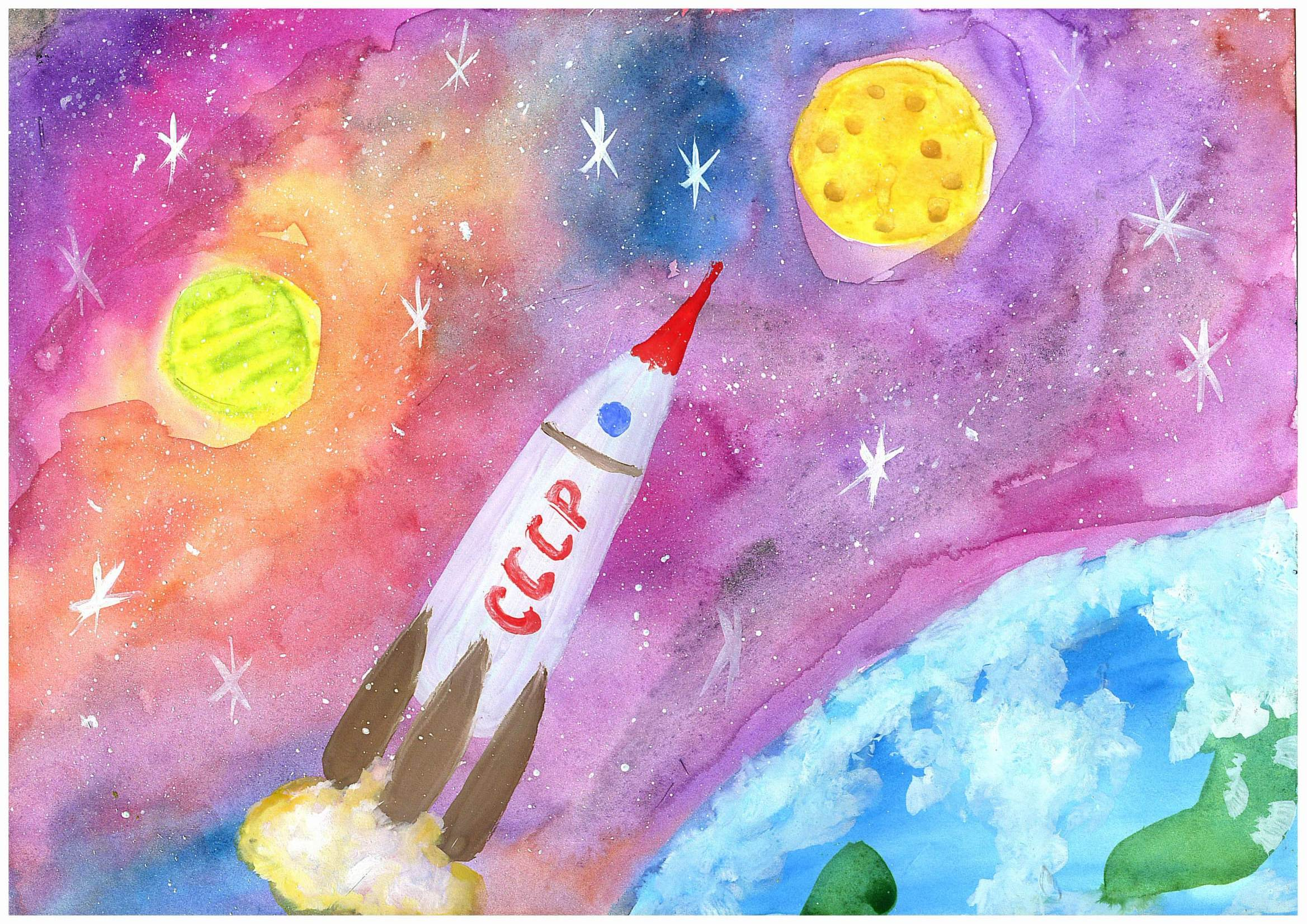 Поделки на тему космос - конкурс к Дню космонавтики 2018 100